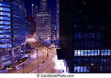 tours, chicago, nuit