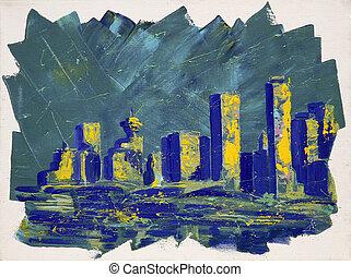 tours, peinture, résumé,  Vancouver