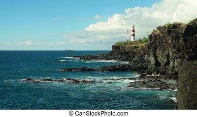 tours, pointe, sur, cavernes, phare, aux, rochers, albion, ...