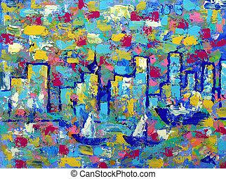 tours, résumé,  Vancouver, peinture