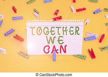 tout, écriture, puissant, nous, signification, boîte, unité, bureau., rappel, fond, pince, plancher, ensemble, texte, possible, groupe, papiers, coloré, can., marques, concept, une, jaune, vide