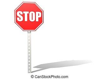 tout, arrêtez panneau signalisation