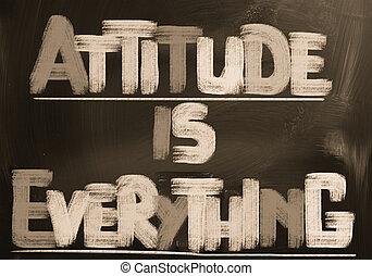 tout, attitude, concept