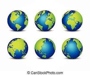 tout, concept, autour de, ), (, planète, conservation, mondiale, la terre, côté