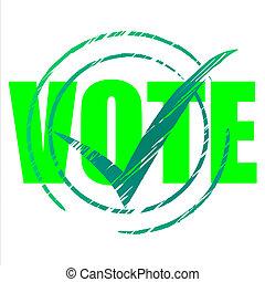 tout, droit, en accord, indique, vote, oui