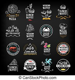 tout, eat.vector, restaurant, grap, buffet, menu, boîte, vous, design.