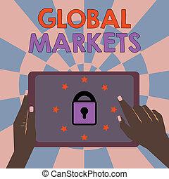 tout, marchandises, pays, photo, projection, global, signe, conceptuel, commerce, texte, services, mondiale, markets.