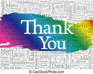 tout, mot, remercier, langues, fond, vous, nuage