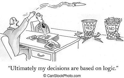 tout, peser, faire, après, logique, décisions, côtés