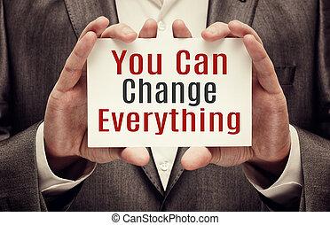 tout, vous, boîte, changement