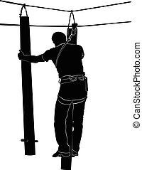 touw ladder, park, avontuur