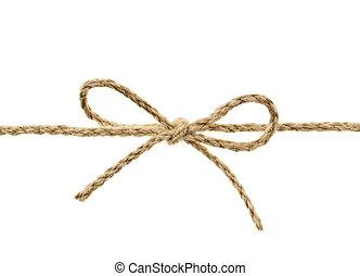 touwtje, gebonden, boog