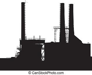 továrna, silueta
