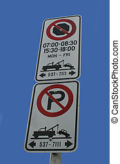 tow away zone no stopping no parking