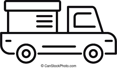 Tow truck delivery icon, outline style