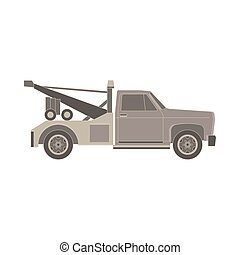tow truck flat icon for transportation faults and emergency cars vector illustration isolated on white background
