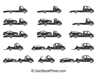 Tow truck icons.