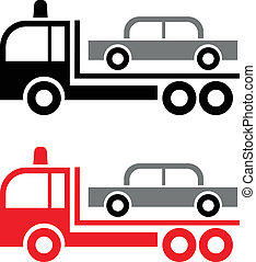 Tow Truck - vector icon