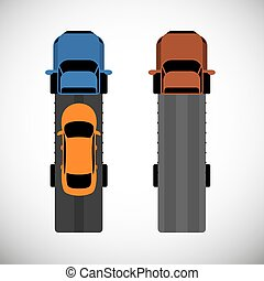 Tow Truck - Roadside assistance car towing truck. Vector ...