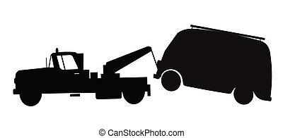 tow truck towing van