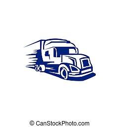 tow Truck Trailer Logo Transportation - inspiration Vector van