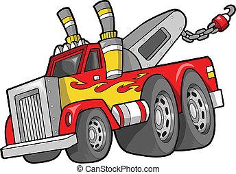 Tow Truck Vector Illustration art