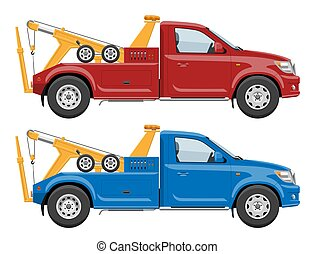 Tow trucks vector template