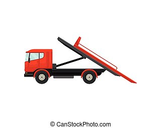 Tow with a platform. Vector illustration on white background.