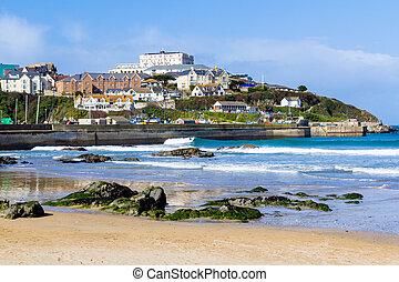 Towan Beach Newquay Cornwall England UK