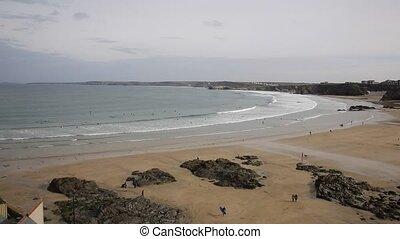 Towan beach Newquay Cornwall uk - Newquay Towan beach North ...