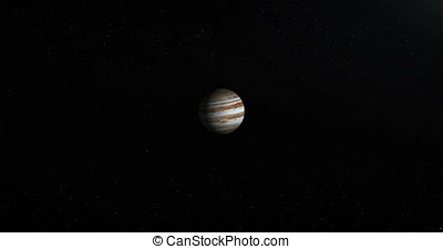 Towards Jupiter planet in the outer space