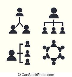 towarzyski, dyskusja, komplet, współposiadanie, ludzie
