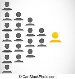 towarzyski, grupa, sieć, ludzie