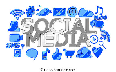 towarzyski, media, ikony