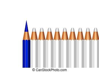 towarzystwo, handlowy, przestrzeń, tło, odizolowany, ikona, przewodnictwo, kopia, pojęcie, ołówek, organizacja, biały