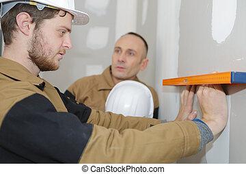 towarzysz, zbudowanie, coworker, umiejscawiać, inżynier