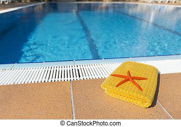 Towel at the swimming pool