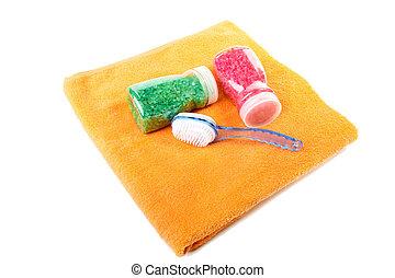 Towel brush salt for bathroom