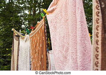 towel drying
