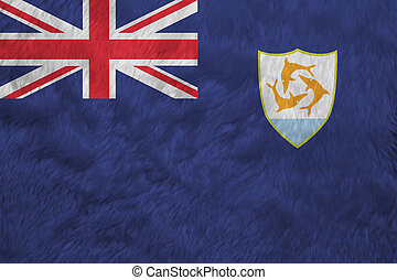 Towel fabric pattern flag of Anguilla. Blue Ensign with the British flag and the coat of arms of Anguilla in the fly.