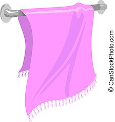 Towel - Illustration of a towel in a hanger