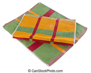 towel, kitchen towel on background. - towel, kitchen towel...