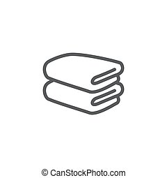 Towel line icon on white background