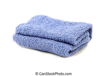 Towel over white background