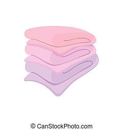 Towel stack cartoon icon