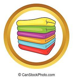 Towel stack vector icon