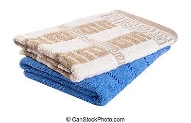 towel., toalla, en, un, plano de fondo