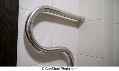 Towel warmer in bathroom - Towel warmer rail in bathroom