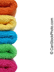 Towels - Stacked coloful towels