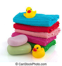 towels with soap